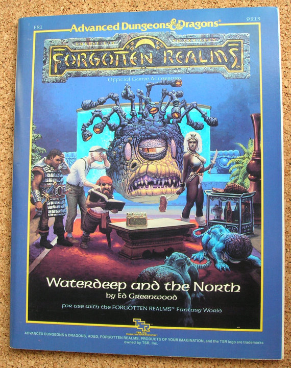 Advanced Dungeons & Dragons FR1 Waterdeep and the North